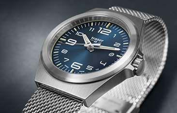 Traser P59 Essential M Blue Milanese band